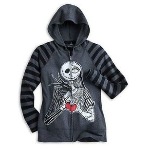 Jack and Sally Hooded Jacket Lightweight Disney